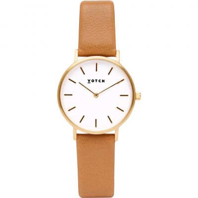 Montre Femme Votch 33mm Petite Tan and Gold VOT3304