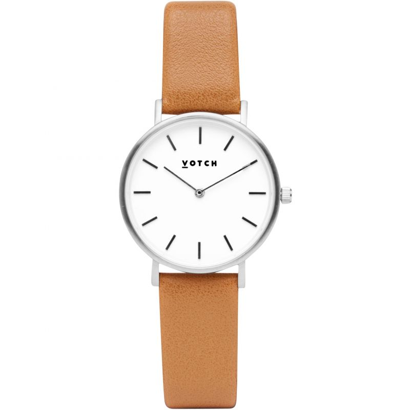 Ladies Votch 33mm Petite Tan and Silver Watch