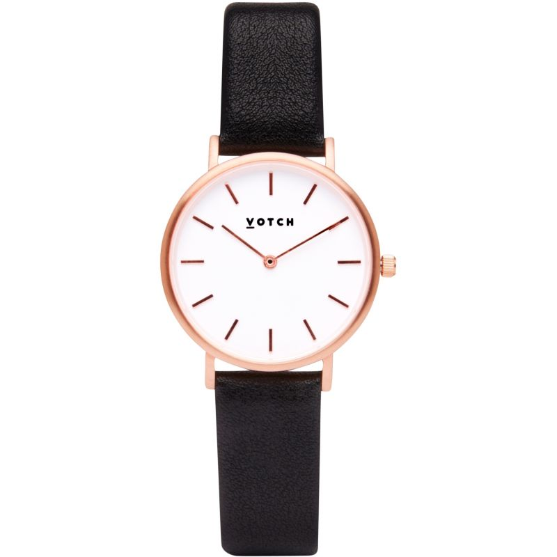 Ladies Votch 33mm Petite Black and Rose Gold Watch