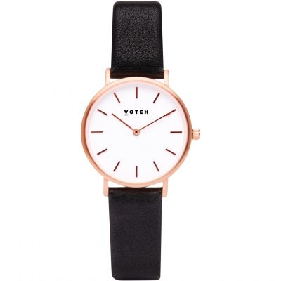 Ladies Votch 33mm Petite Black and Rose Gold Watch VOT3310