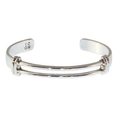 Icon Brand Tuned Cuff Bangle P1482-BR-SIL