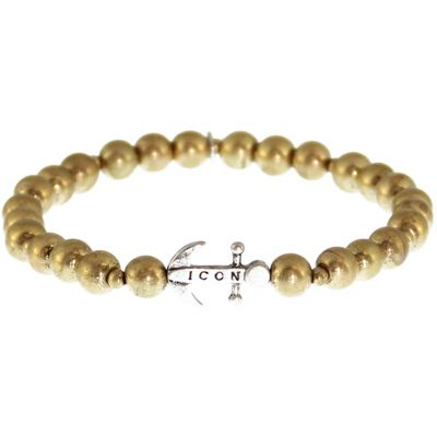 Icon Brand Anchorage Bracelet B1165-BR-GLD