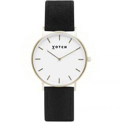Votch Pinatex Classic 38mm Dameshorloge Zwart VOTPIN2