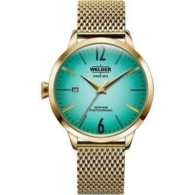 Welder The Moody 38mm Unisex horloge Goud K55/WRC624