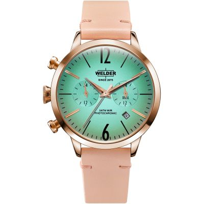 Welder The Moody 38mm Dual Time Unisex horloge Roze K55/WWRC100