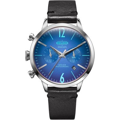 Welder The Moody 38mm Dual Time Unisex horloge Zwart K55/WWRC101