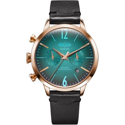 Welder The Moody 38mm Dual Time Unisex horloge Zwart K55/WWRC102