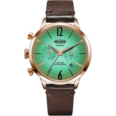 Welder The Moody 38mm Dual Time Unisex horloge Bruin K55/WWRC104