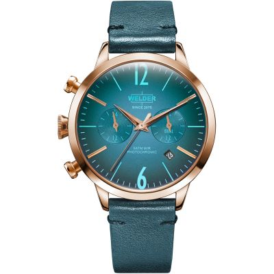 Welder The Moody 38mm Dual Time Unisex horloge Blauw K55/WWRC105