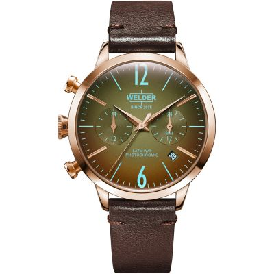 Welder The Moody 38mm Dual Time Unisex horloge Bruin K55/WWRC111