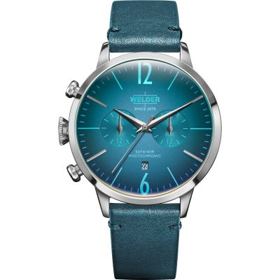 Welder The Moody 42mm Dual Time Unisex horloge Blauw K55/WWRC205