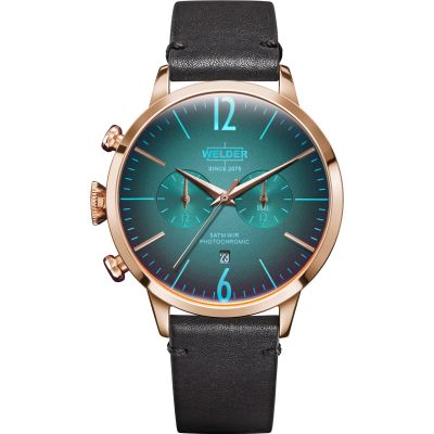Welder The Moody 42mm Dual Time Unisex horloge Bruin K55/WWRC208