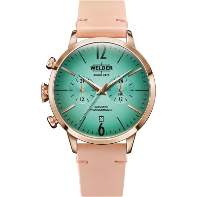 Welder The Moody 42mm Dual Time Unisex horloge Roze K55/WWRC209