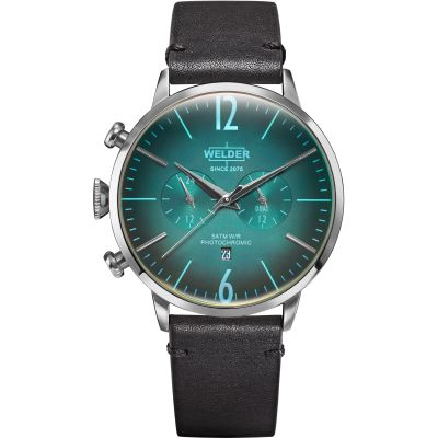 Welder The Moody 45mm Dual Time Unisex horloge Zwart K55/WWRC300