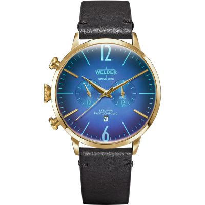 Welder The Moody 45mm Dual Time Unisex horloge Zwart K55/WWRC301