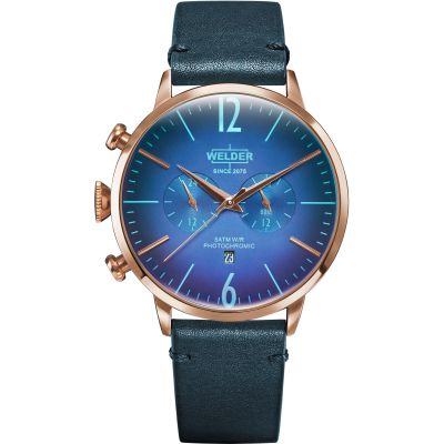 Welder The Moody 45mm Dual Time Unisex horloge Blauw K55/WWRC305