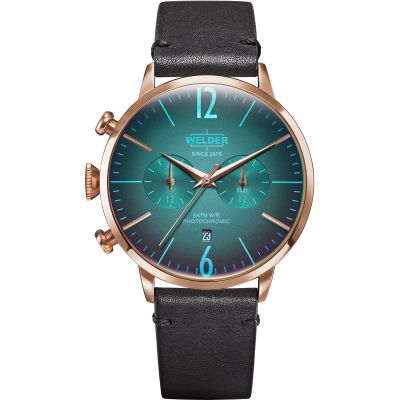 Welder The Moody 45mm Dual Time Unisex horloge Zwart K55/WWRC306