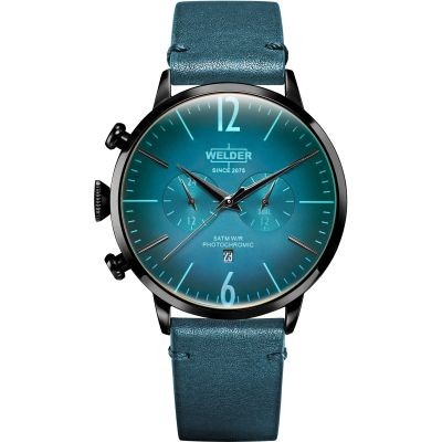 Welder The Moody 45mm Dual Time Unisex horloge Groen K55/WWRC308