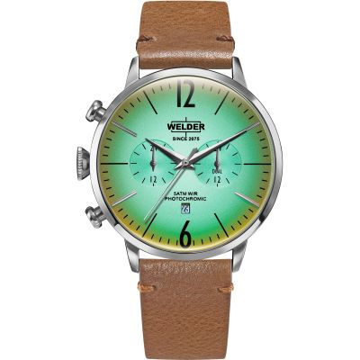 Welder The Moody 42mm Dual Time Unisex horloge Bruin K55/WWRC312