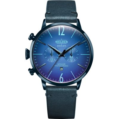 Welder The Moody 45mm Dual Time Unisex horloge Blauw K55/WWRC315