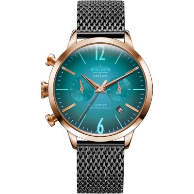 Welder The Moody 38mm Dual Time Unisex horloge Zwart K55/WWRC602