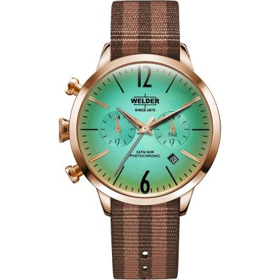 Welder The Moody 38mm Dual Time Unisex horloge Bruin K55/WWRC701