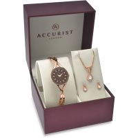 Ladies Accurist Gift Set Watch 8121G
