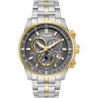 Mens Citizen Chrono Perpetual A-T Alarm Chronograph Watch AT4124-51H