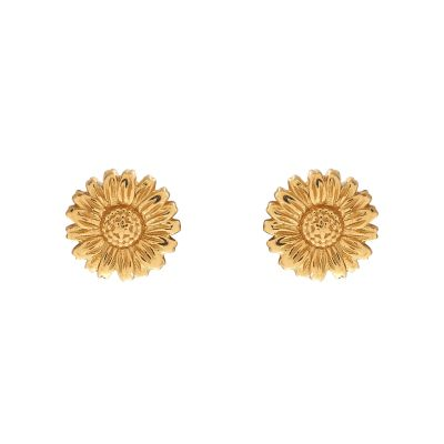 Ladies Olivia Burton Gold Plated Sterling Silver 3D Daisy Stud Earrings OBJ16DAE13
