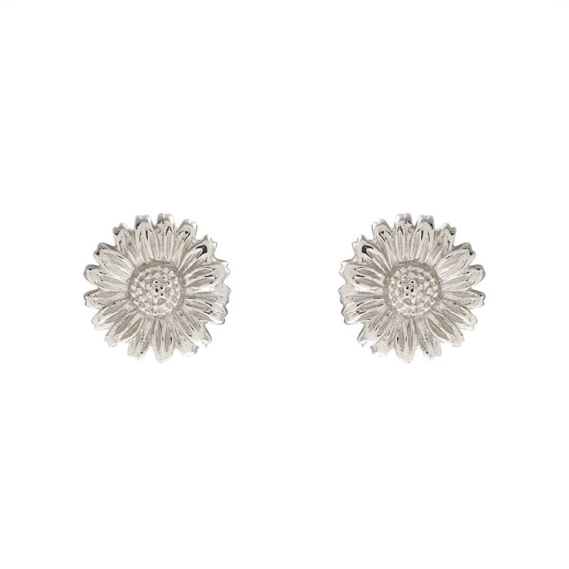 Ladies Olivia Burton Sterling Silver 3D Daisy Stud Earrings OBJ16DAE15