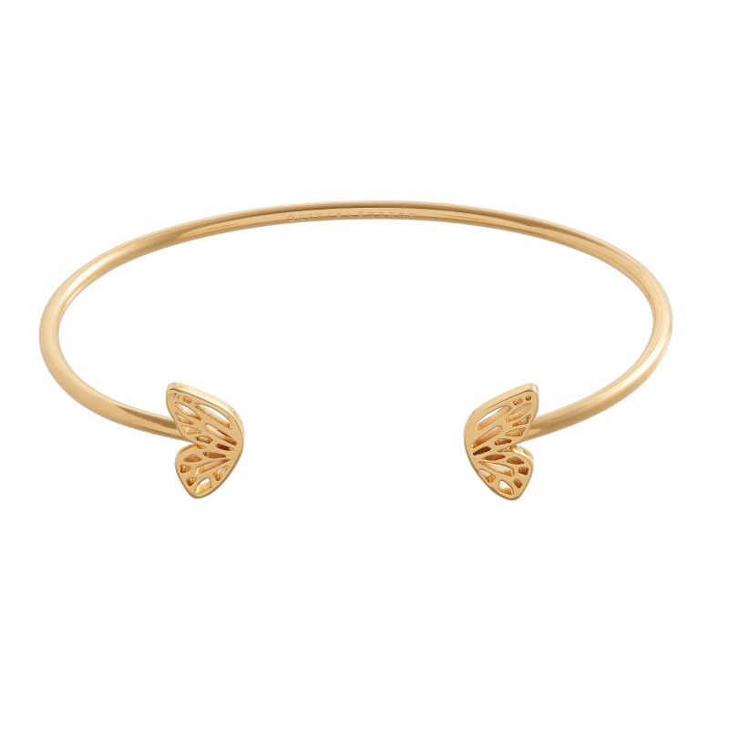 Ladies Olivia Burton Gold Plated Butterfly Wing Bangle OBJ16EBB04