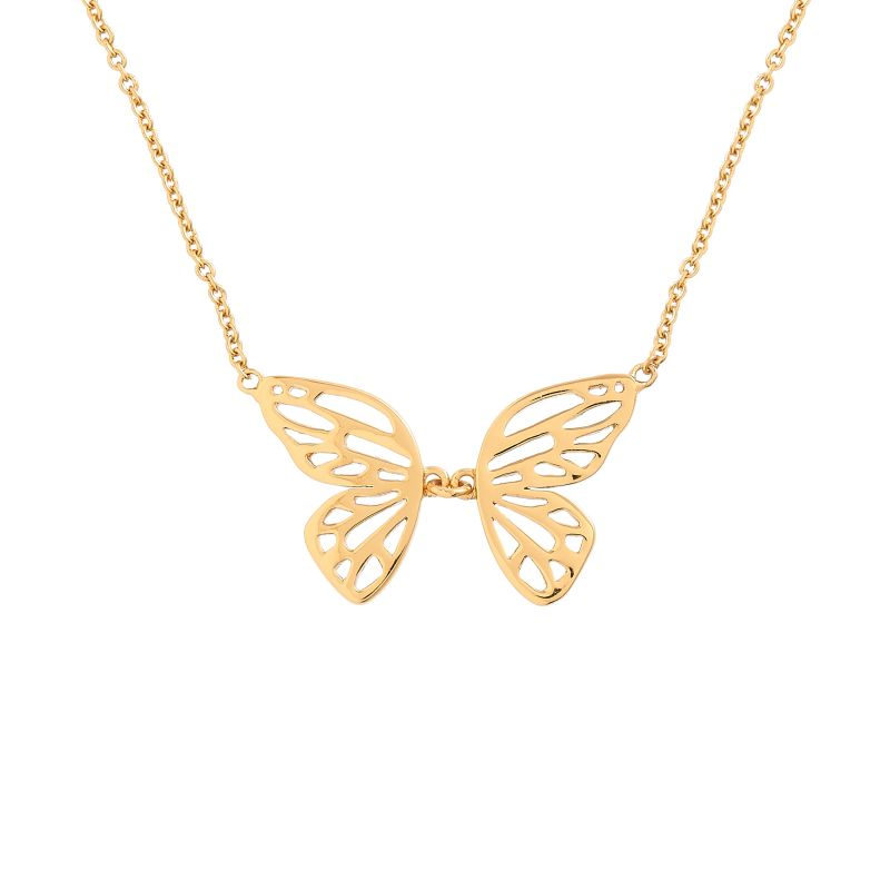 Butterfly Wing Gold Necklace OBJ16EBN04