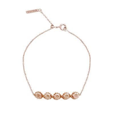 Ladies Olivia Burton Rose Gold Plated Flower Show Rope Chain Bracelet OBJ16FSB11