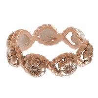 Ladies Olivia Burton Rose Gold Plated Rope Ring OBJ16FSR05