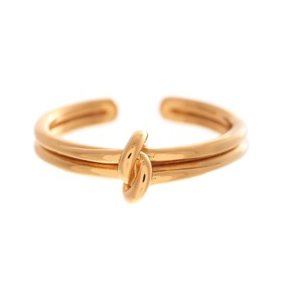 Ladies Olivia Burton Rose Gold Plated Knot Ring OBJ16KDR01