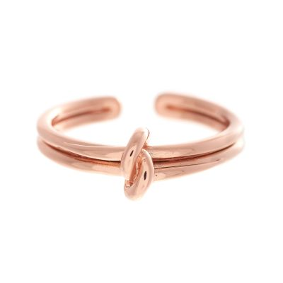 Forget Me Knot Rose Gold Ring OBJ16KDR02
