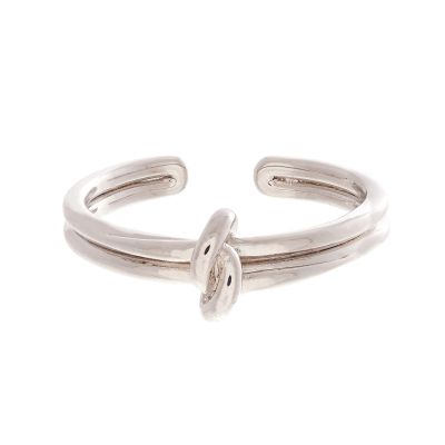 Forget Me Knot Silver Ring OBJ16KDR03