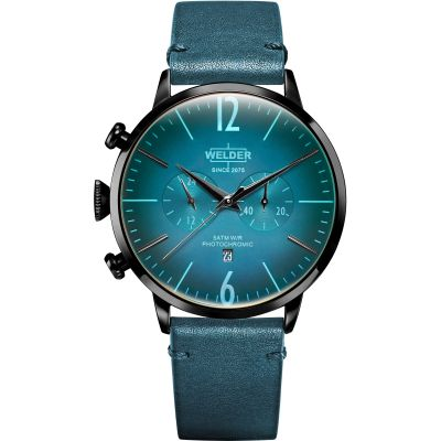 Welder The Moody 45mm Unisexchronograaf Blauw K55/WRC308