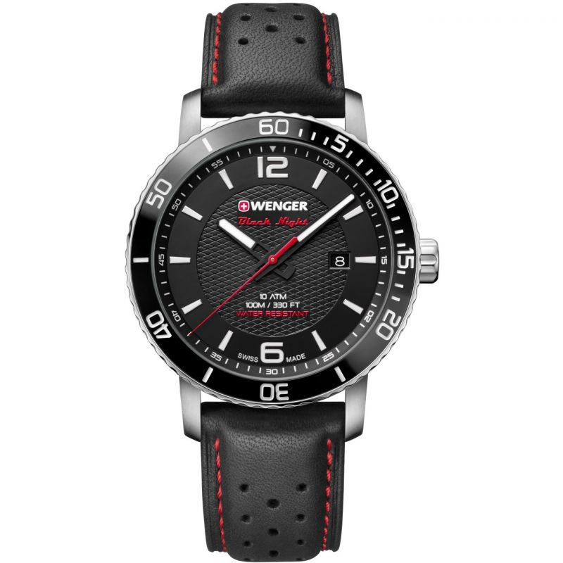 Mens Wenger Roadster Black Night Watch 011841101