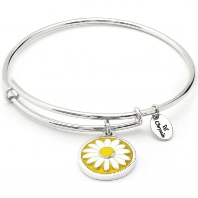 Ladies Chrysalis Silver Plated Wishes Daisy Expandable Bangle CRBC0003SP