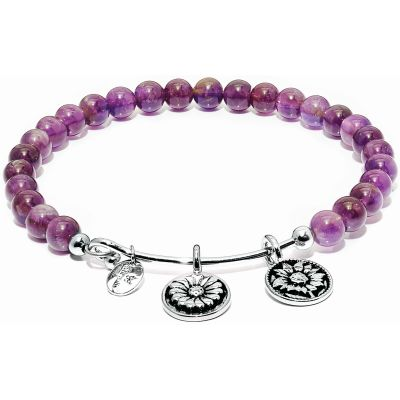 Ladies Chrysalis Silver Plated Guardian Amethyst Believe Bangle CRBH0003AM-SML