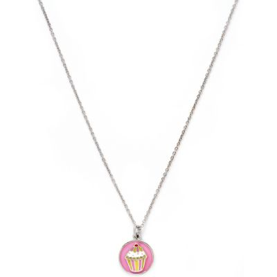 Ladies Chrysalis Silver Plated Wishes Cupcake Necklace CRNC0002SP