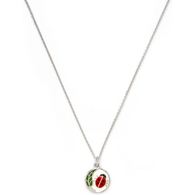 Ladies Chrysalis Silver Plated Wishes Ladybird Necklace CRNC0006SP