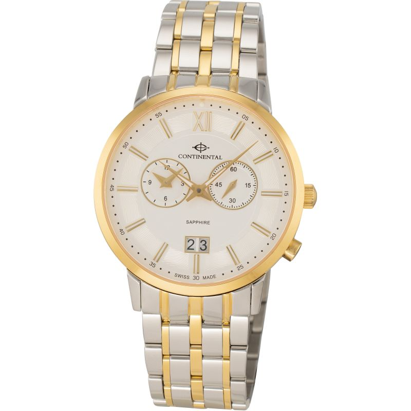 Mens Continental Dual Time Watch