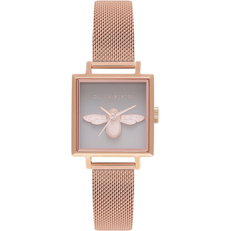 3D Bee Grey Rose Gold Mesh Watch OB16AM132 for £155