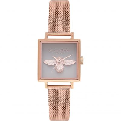 3D Bee Grey Rose Gold Mesh Watch