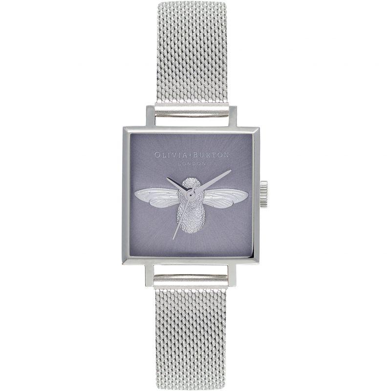 3D Bee Silver Mesh Watch