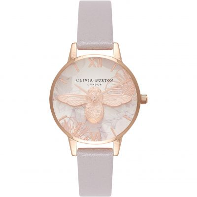 Montre Femme Olivia Burton Abstract Florals Rose Gold & Grey Lilac OB16VM17