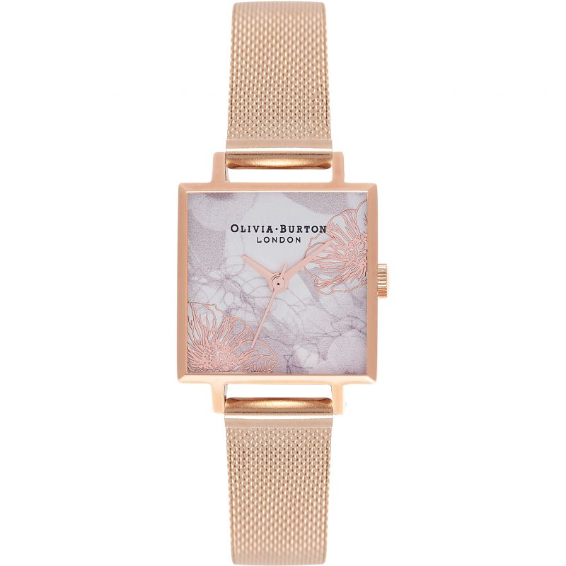 Abstract Florals Rose Gold Watch