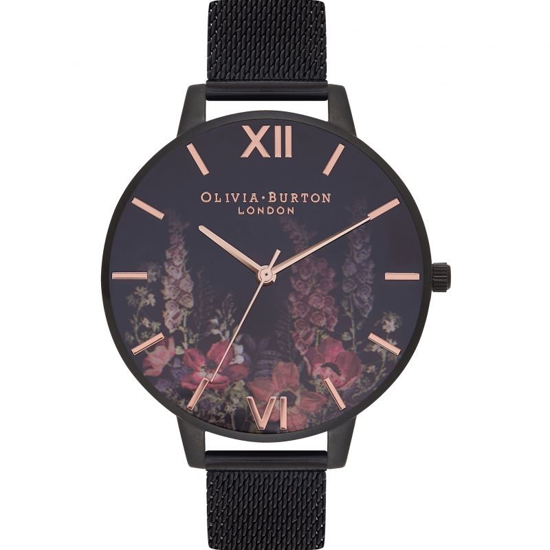 After Dark Matte Black & Rose Gold Watch